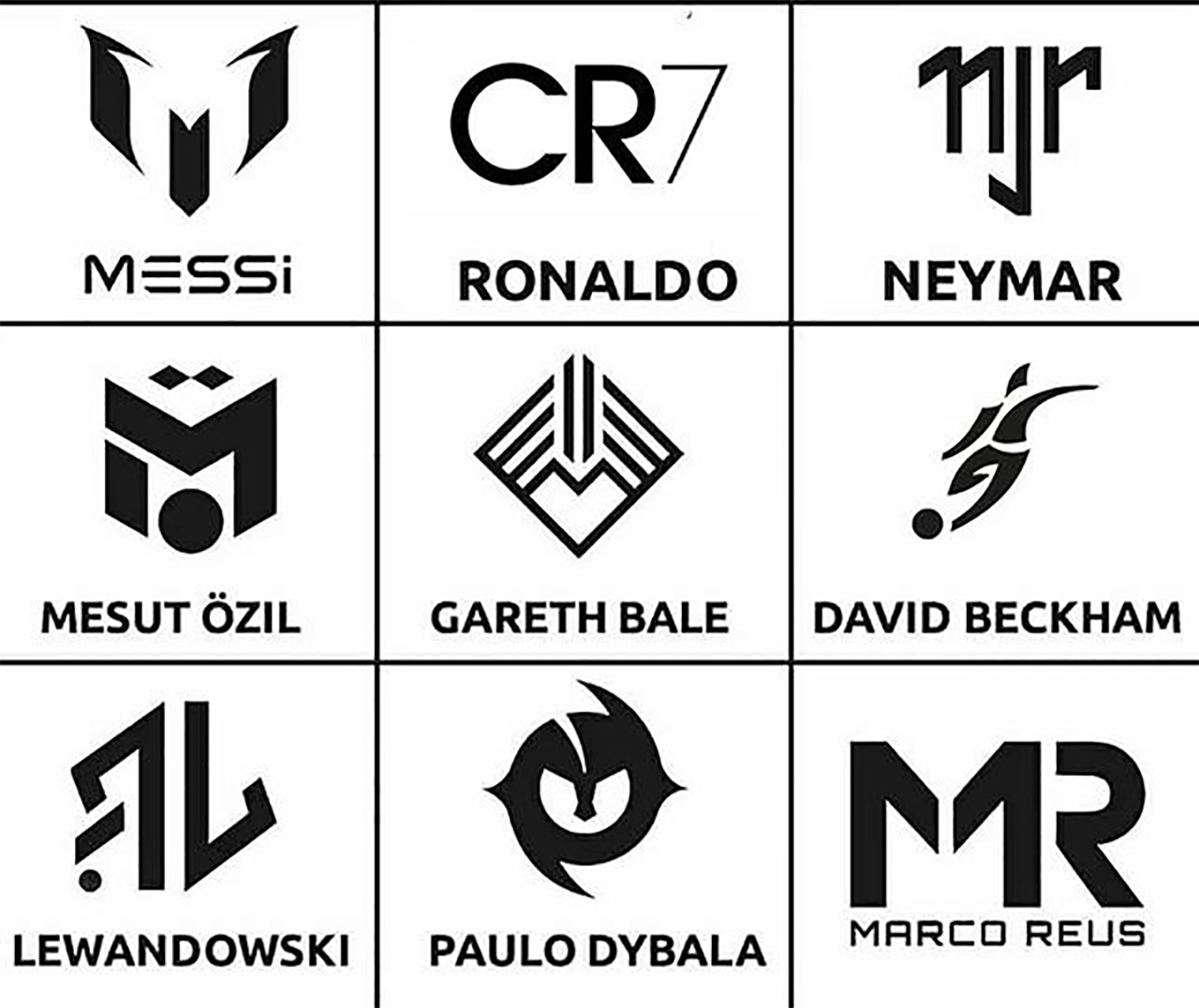 Superstar Soccer Players Have Logos Too